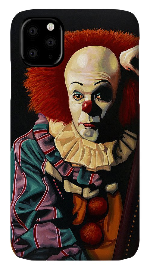 Pennywise IPhone Case featuring the painting Pennywise by Paul Meijering