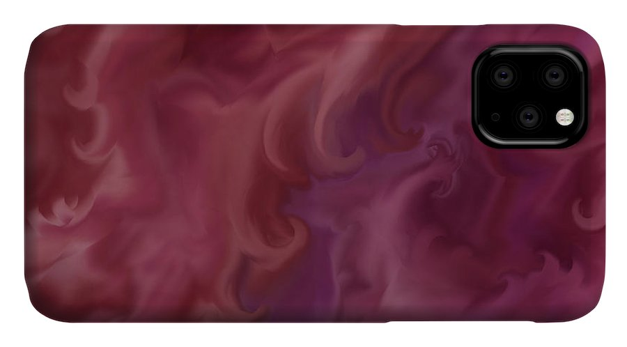 Fantasy IPhone Case featuring the painting Phoenix Rising by Anne Norskog