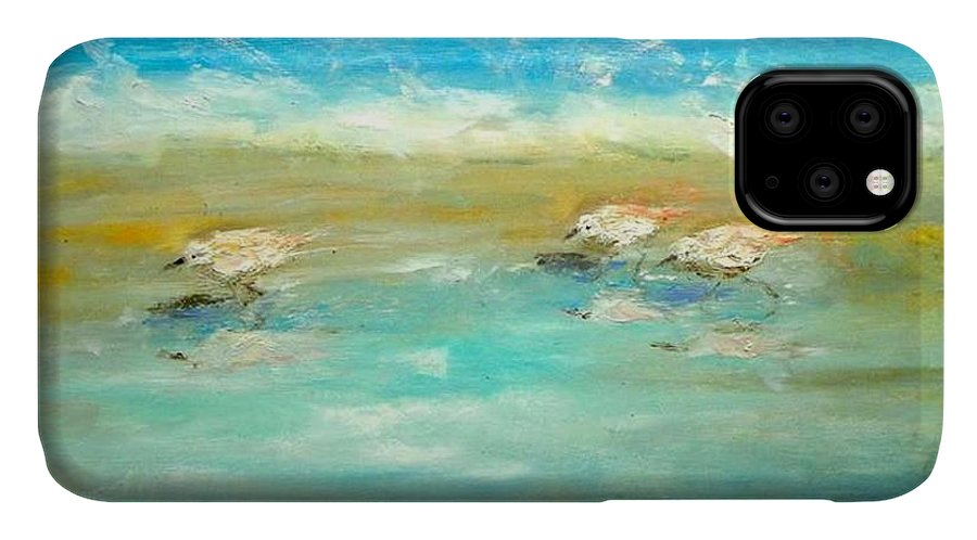 Pipers IPhone Case featuring the painting Pipers by Paul Emig