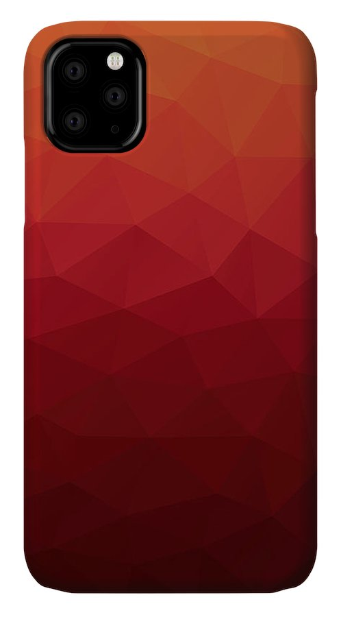 Abstract IPhone Case featuring the digital art Polygon by Mike Taylor