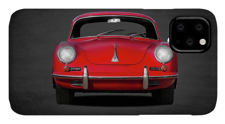 Porsche IPhone 11 Case featuring the photograph Porsche 356 by Mark Rogan