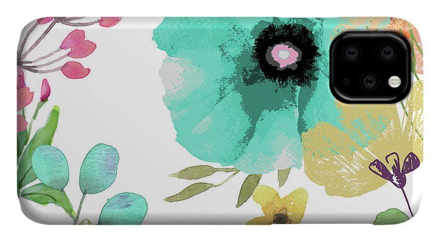 Poppies IPhone Case featuring the painting Posy II by Mindy Sommers