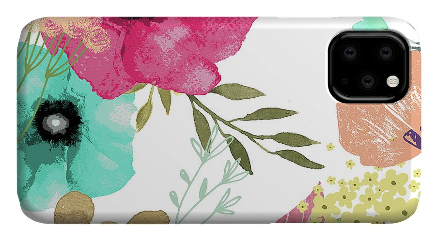 Flowers IPhone Case featuring the painting Posy by Mindy Sommers