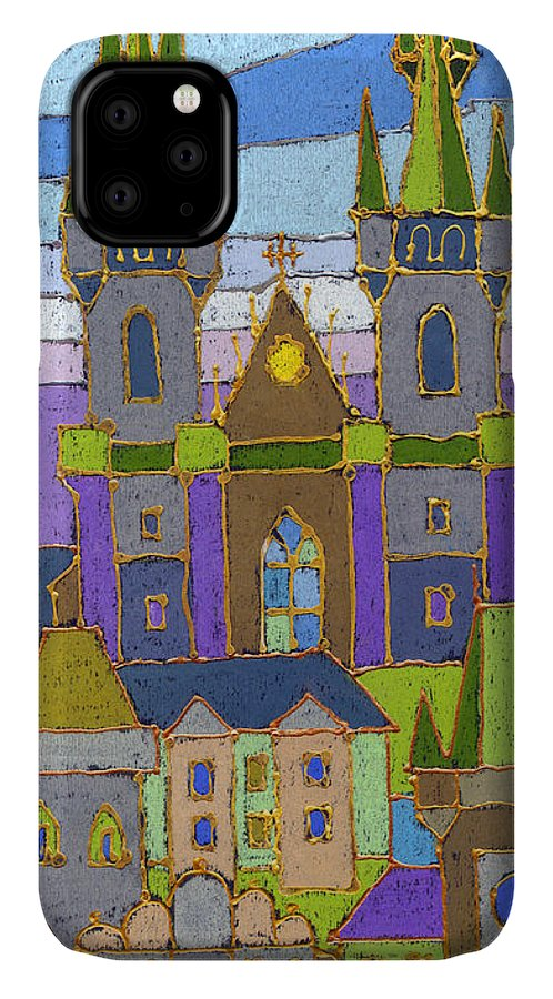 Pastel IPhone Case featuring the painting Prague Panorama by Yuriy Shevchuk