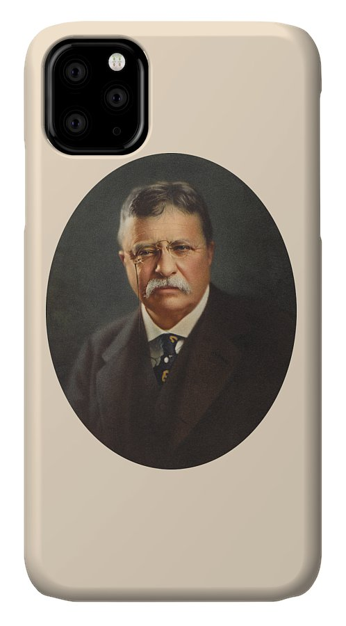 President Roosevelt IPhone Case featuring the painting President Theodore Roosevelt - Rough Rider, Governor And President by War Is Hell Store