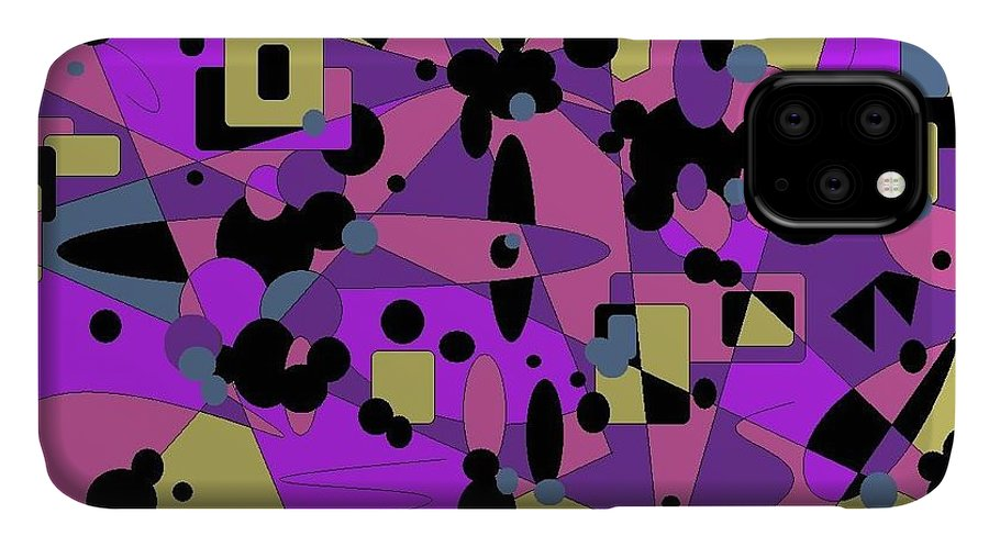 Digital Abstract IPhone Case featuring the digital art Pretty Picture by Jordana Sands