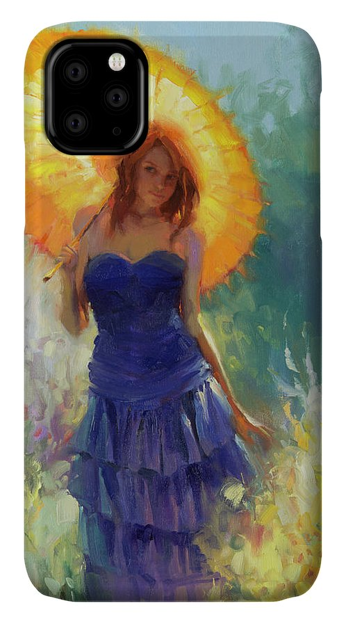 Woman IPhone Case featuring the painting Promenade by Steve Henderson