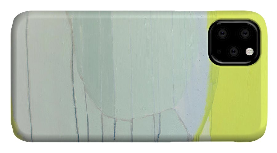 Abstract IPhone Case featuring the painting Quien Esta? by Claire Desjardins