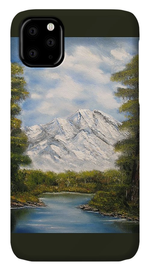Rocky IPhone Case featuring the painting Quiet View by Lisa Cini