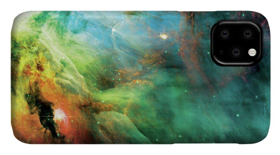 Nebula IPhone Case featuring the photograph Rainbow Orion Nebula by Jennifer Rondinelli Reilly - Fine Art Photography