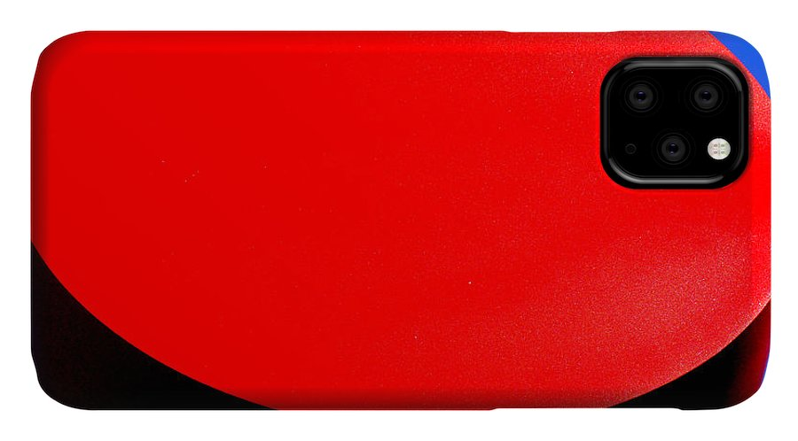 Red IPhone Case featuring the photograph Red Circle 2016 by Guntis Lauzums