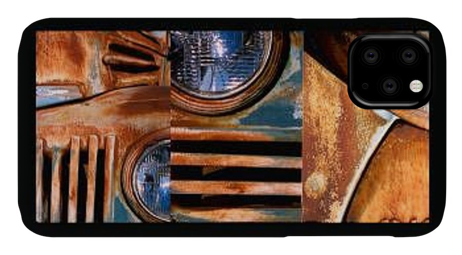 Abstract Photo Of Chevy Truck IPhone Case featuring the photograph Red Head On by Steve Karol