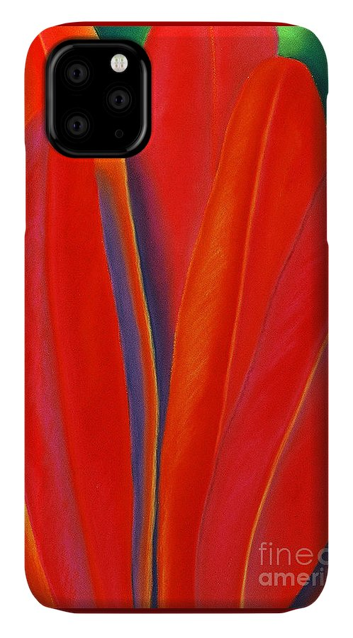 Red IPhone Case featuring the painting Red Petals by Lucy Arnold