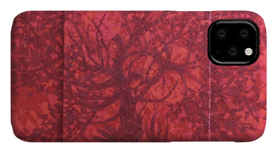 Red IPhone Case featuring the painting Red Planet by Judy Henninger