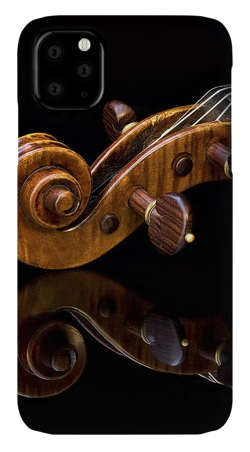 Strad IPhone Case featuring the photograph Reflected Scroll by Endre Balogh