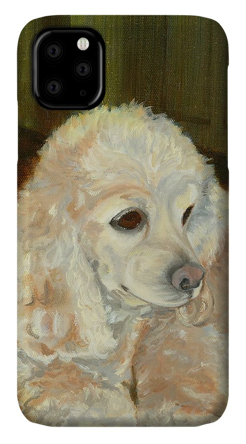 Animal IPhone Case featuring the painting Remembering Morgan by Paula Emery