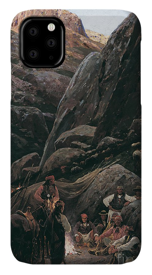 Renegade IPhone Case featuring the painting Renegade Apaches, 1892 by Henry Francois Farny