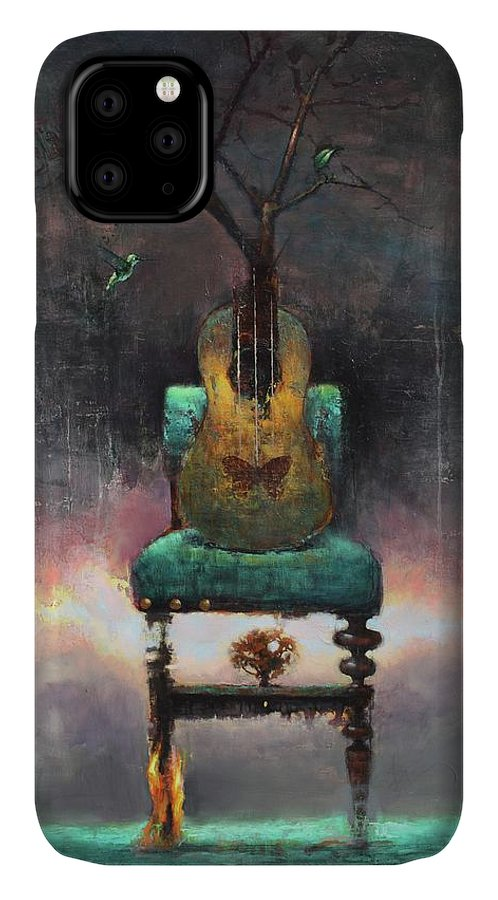 Landscape IPhone 11 Case featuring the painting Resolution by Joshua Smith