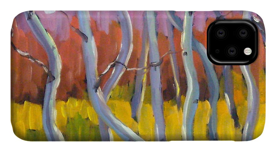 Art IPhone 11 Case featuring the painting Rhapsody No 5 by Richard T Pranke