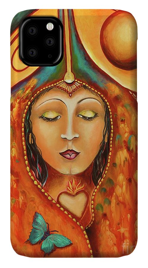Muse IPhone 11 Case featuring the painting Rhythm And Blues Muse by Kim Morris