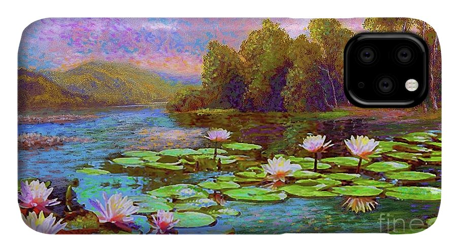 Floral IPhone 11 Case featuring the painting The Wonder Of Water Lilies by Jane Small