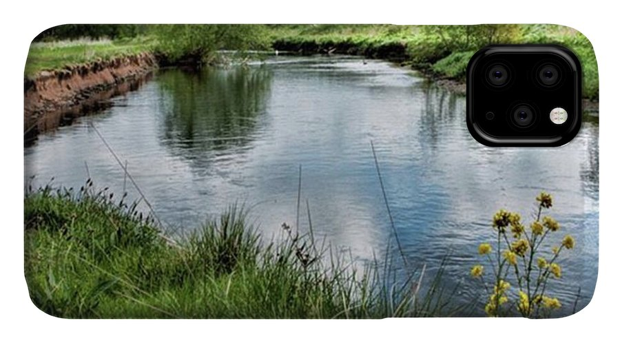 Nature_perfection IPhone 11 Case featuring the photograph River Tame, Rspb Middleton, North by John Edwards