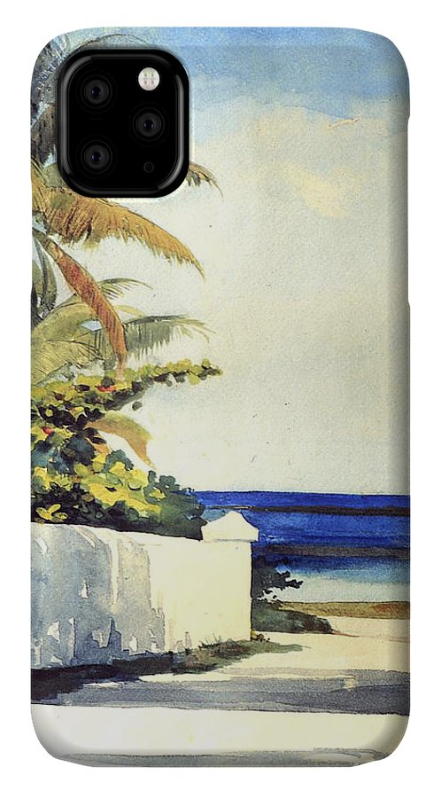 Road In Nassau IPhone Case featuring the painting Road In Nassau by Winslow Homer