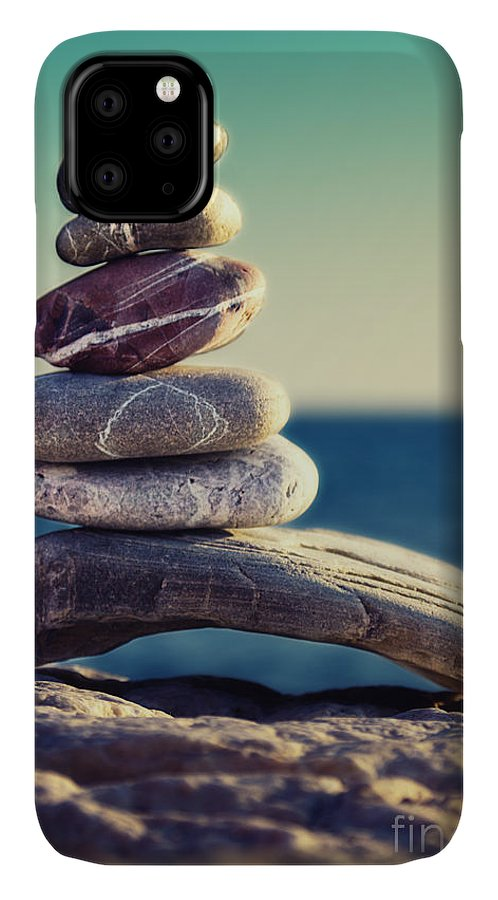 Arrangement IPhone 11 Case featuring the photograph Rock Energy by Stelios Kleanthous
