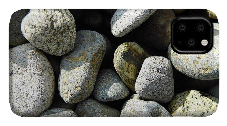 Rock IPhone 11 Case featuring the digital art Rocks by Palzattila