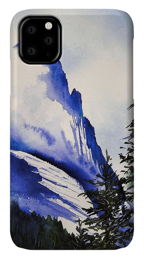 Rocky Mountains IPhone Case featuring the painting Rocky Mountain High by Karen Stark