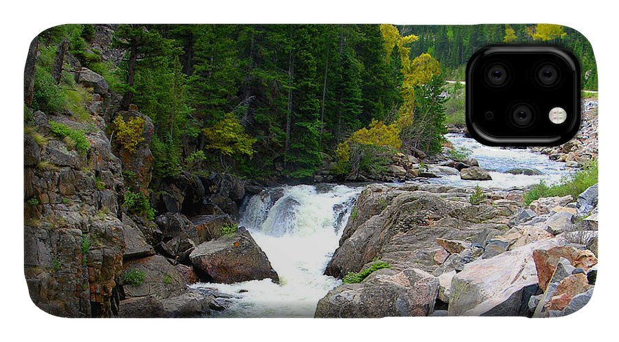 Landscape IPhone Case featuring the photograph Rocky Mountain Stream by John Lautermilch