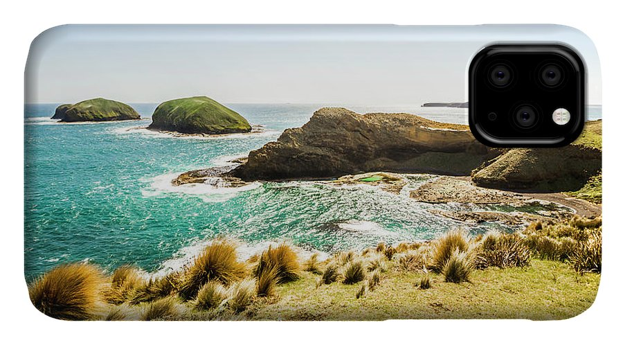 Landscape IPhone 11 Case featuring the photograph Rocky Ocean Capes by Jorgo Photography - Wall Art Gallery