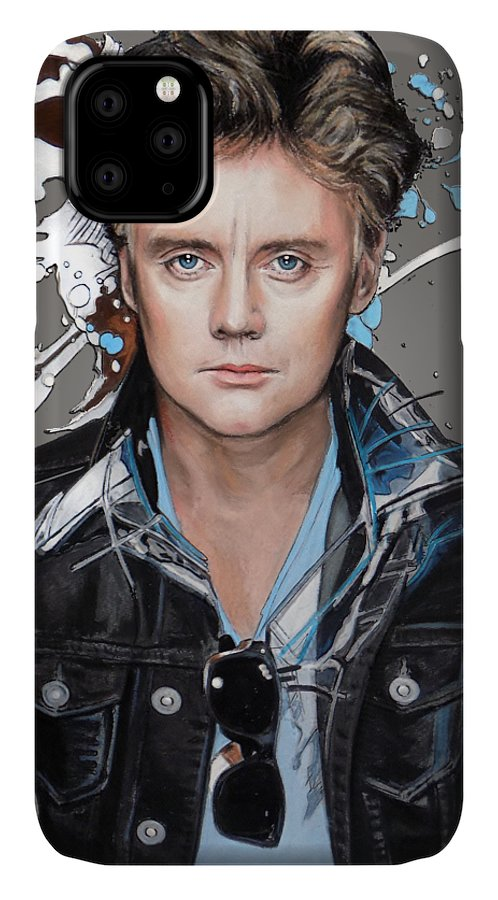 Roger Taylor IPhone Case featuring the pastel Roger Taylor by Melanie D