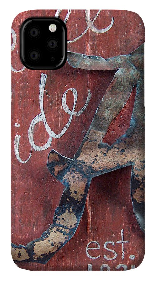 Roll Tide IPhone 11 Case featuring the mixed media Roll Tide by Racquel Morgan