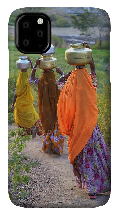 Women IPhone Case featuring the photograph rural Rajasthan by Joana Kruse