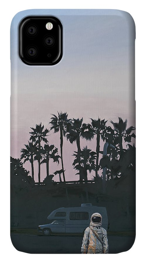 Astronaut IPhone Case featuring the painting Rv Dusk by Scott Listfield