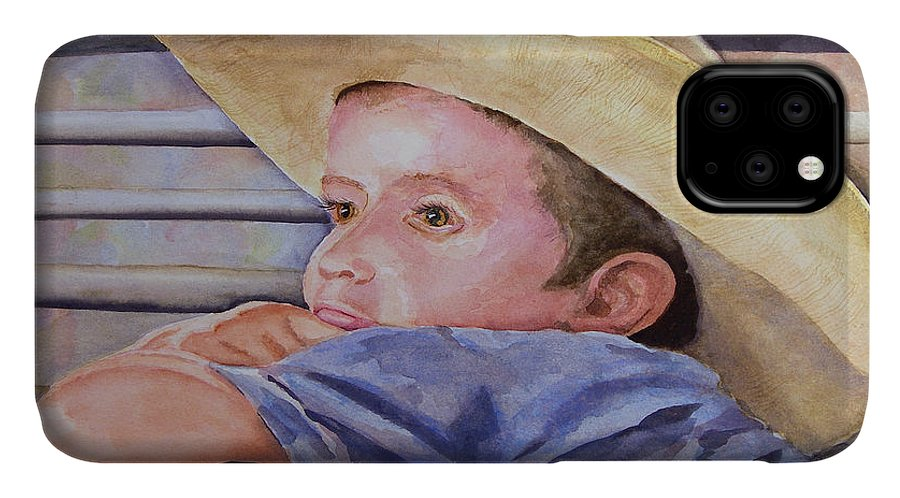 Sale IPhone Case featuring the painting Sale Day by Sam Sidders