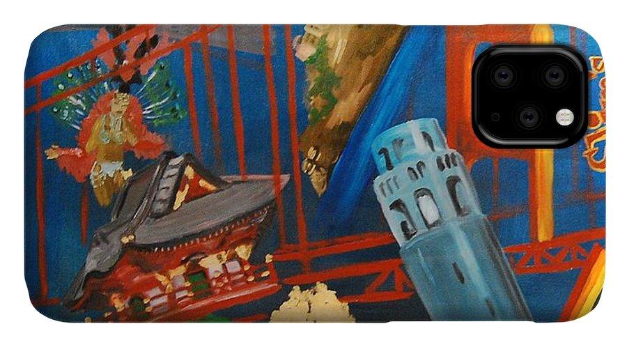 Golden Gate Bridge IPhone Case featuring the painting San Fran by Lauren Luna