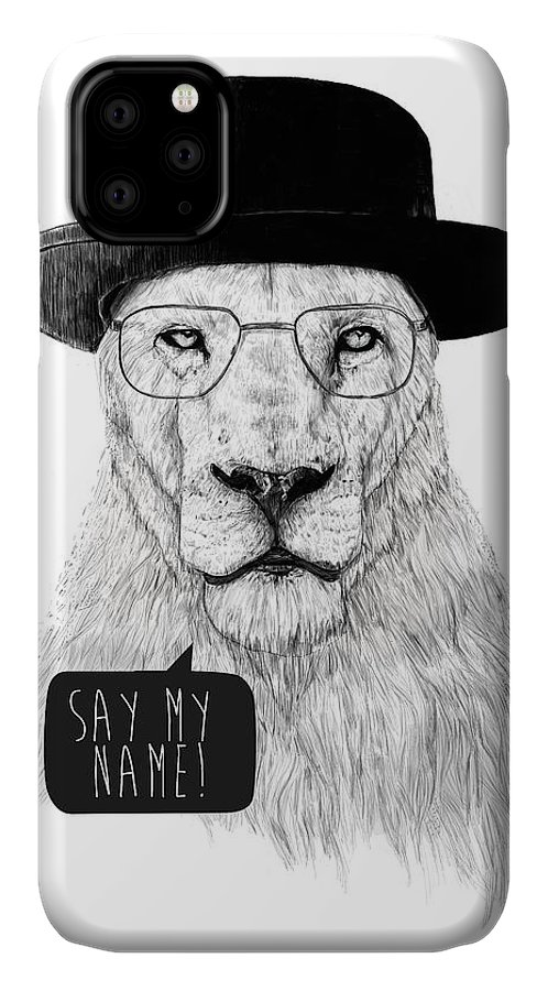 Lion IPhone Case featuring the mixed media Say My Name by Balazs Solti