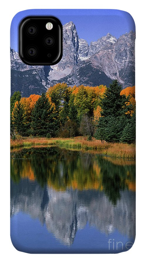 Grand Tetons IPhone 11 Case featuring the photograph Schwabacher Landing -grand Teton by Sandra Bronstein