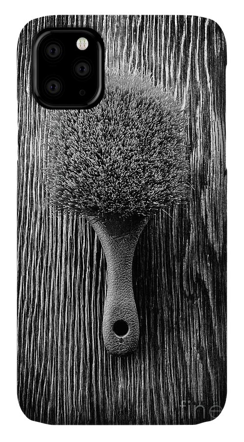 Art IPhone Case featuring the photograph Scrub Brush Up Bw by YoPedro