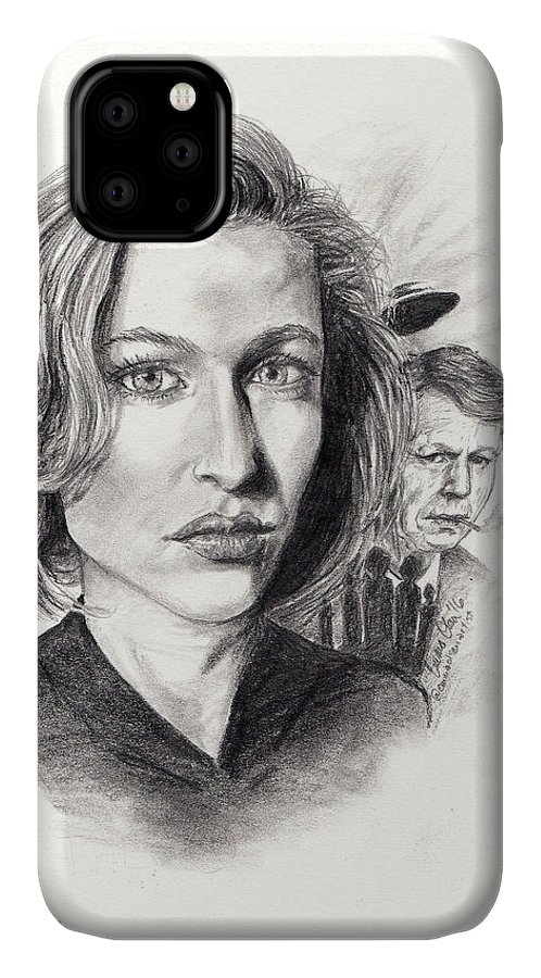 Scully IPhone Case featuring the drawing Scully by Emma Olsen