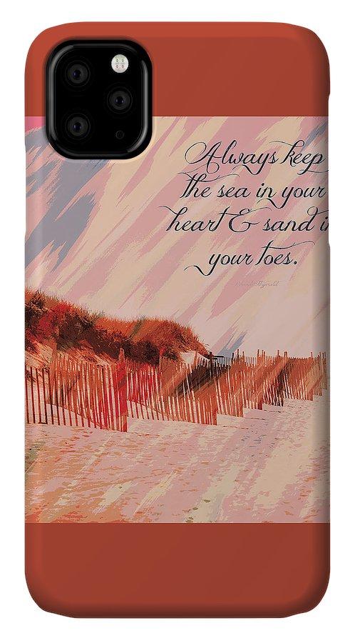 Brandi Fitzgerald IPhone Case featuring the digital art Sea In Your Heart by Brandi Fitzgerald