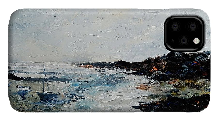 Sea IPhone Case featuring the painting Seascape 68 by Pol Ledent