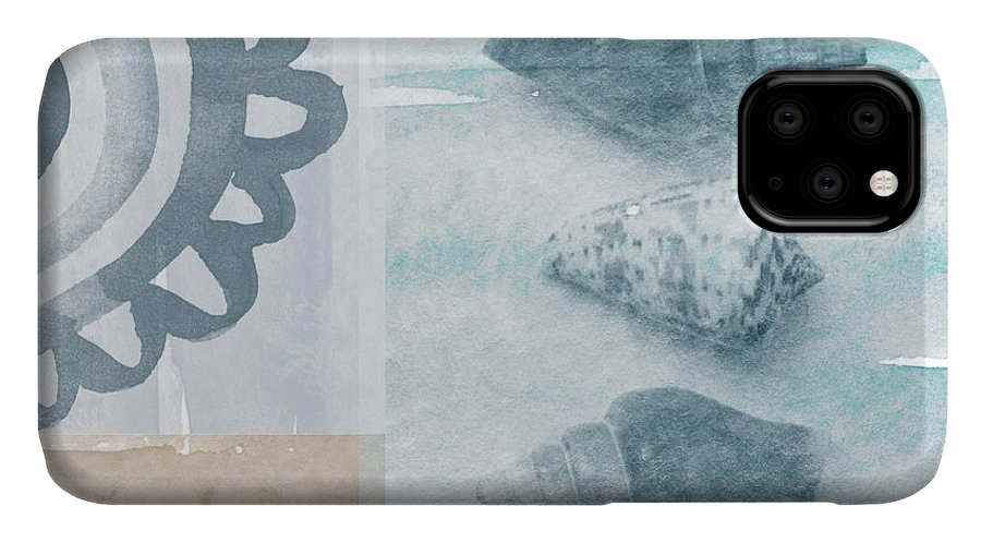 Beach IPhone Case featuring the painting Seashells by Linda Woods