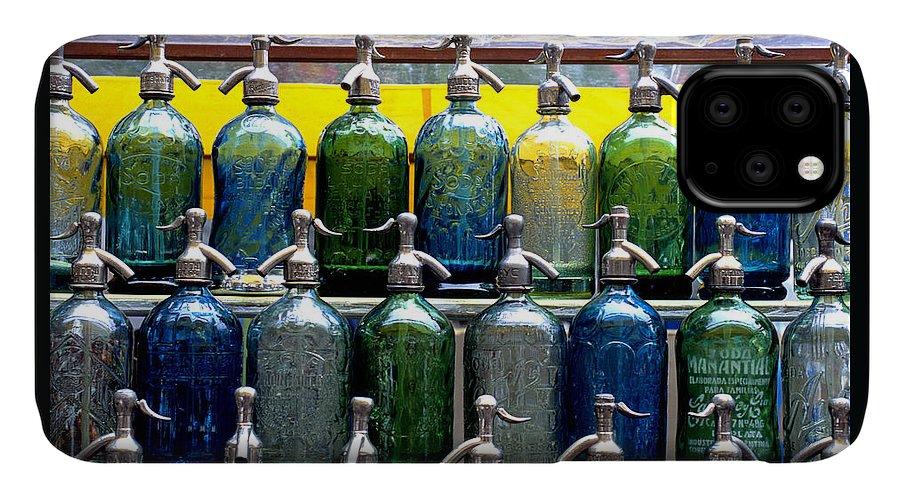 Color Photograph IPhone Case featuring the photograph Seltzer Bottles by Dan Albright