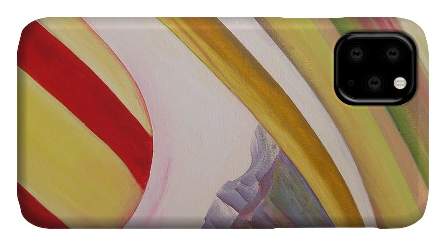 Abstract IPhone Case featuring the painting Sens 4 by Muriel Dolemieux