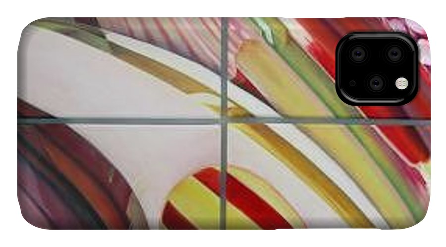 Abstract IPhone Case featuring the painting Sens by Muriel Dolemieux