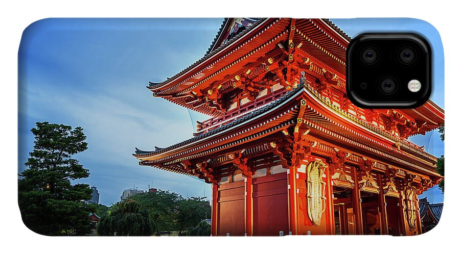 Tokyo IPhone 11 Case featuring the photograph Sensoji Temple by Jane Rix