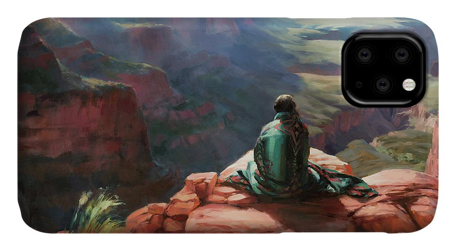 Southwest IPhone Case featuring the painting Serenity by Steve Henderson